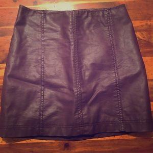 Dresses & Skirts - Burgundy leather skirt